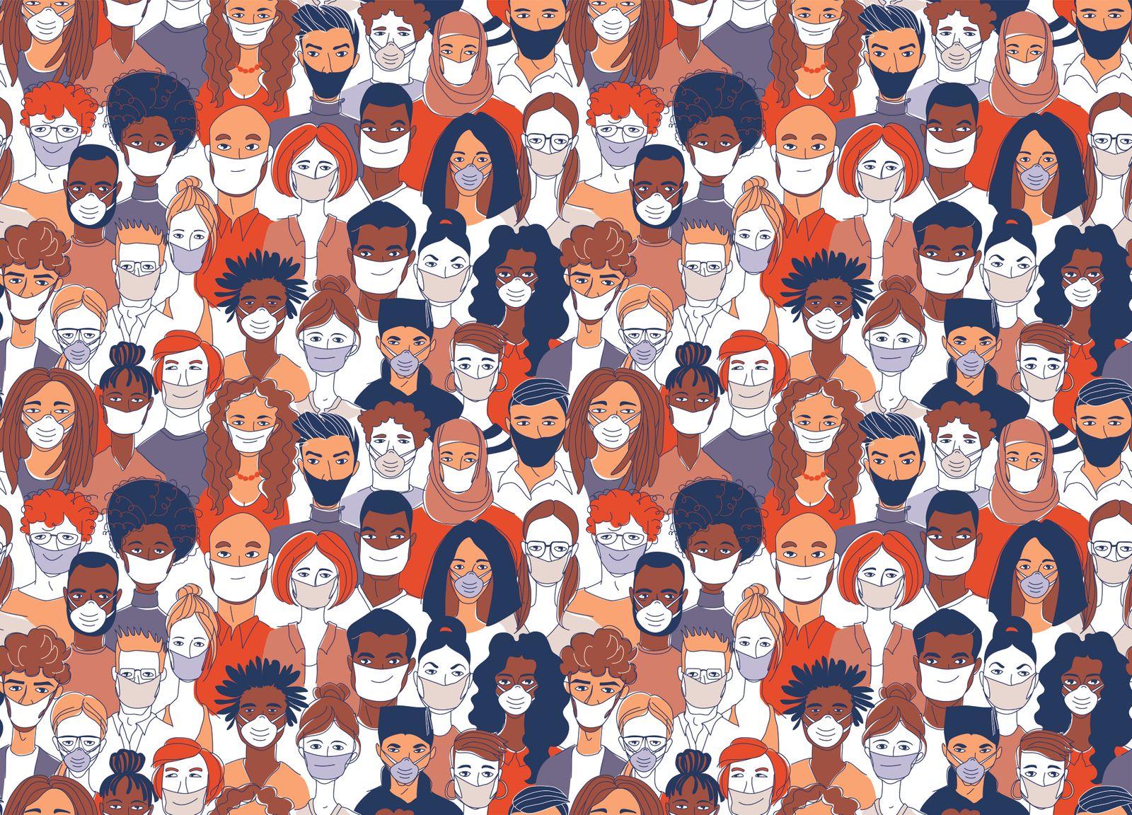 Masken in der Bevölkerung