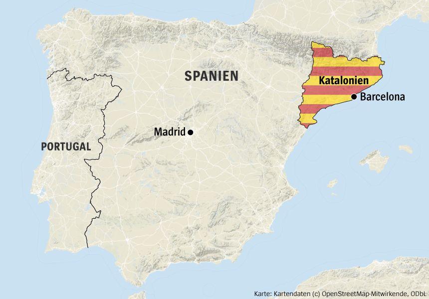 Karte Katalonien Spanien