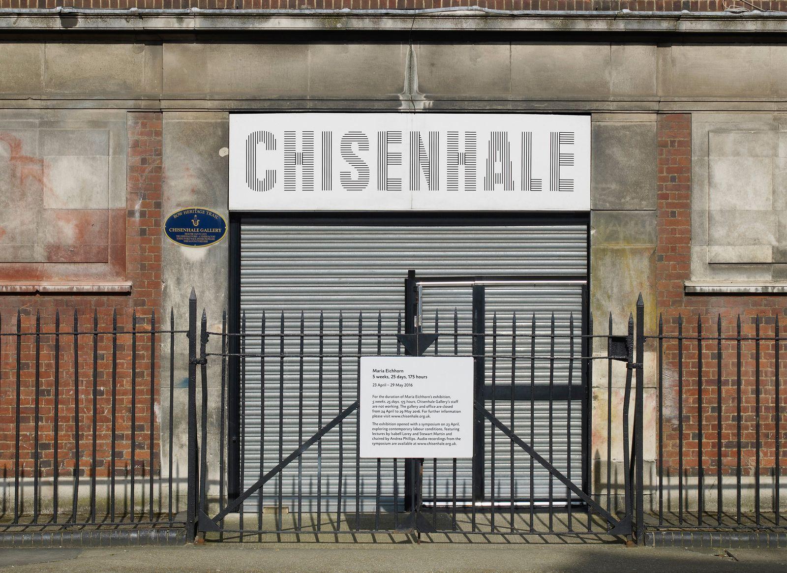 EINMALIGE VERWENDUNG Chisenhale Gallery/ Nicht-Ausstellung