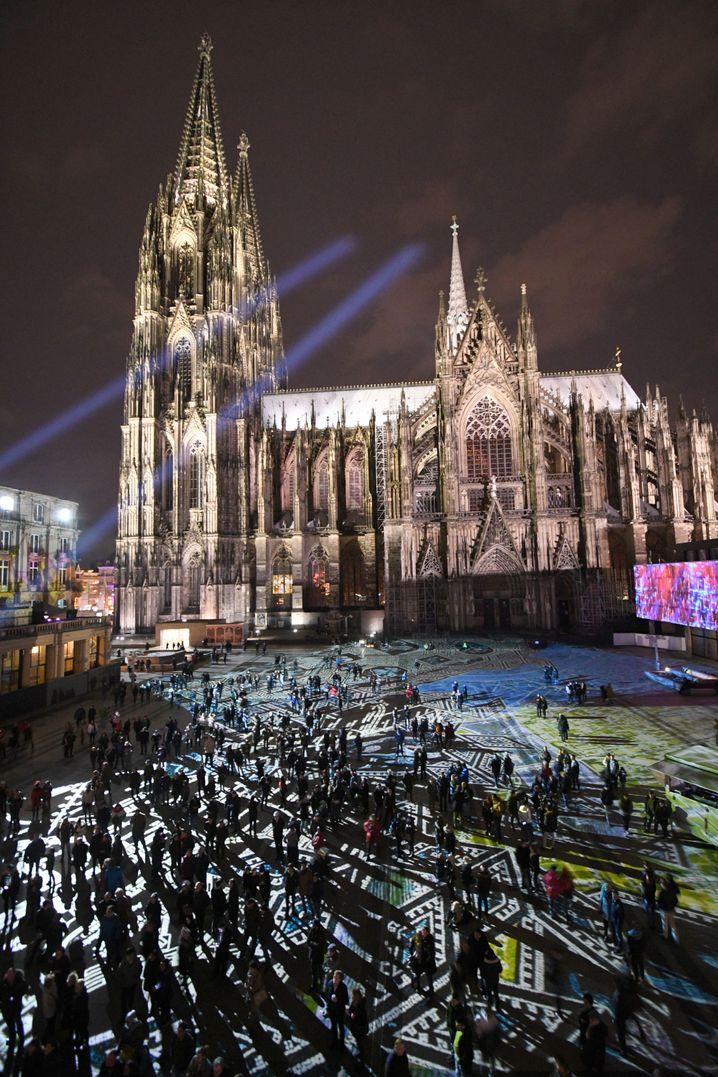 Silvester 2017 am Dom in Köln