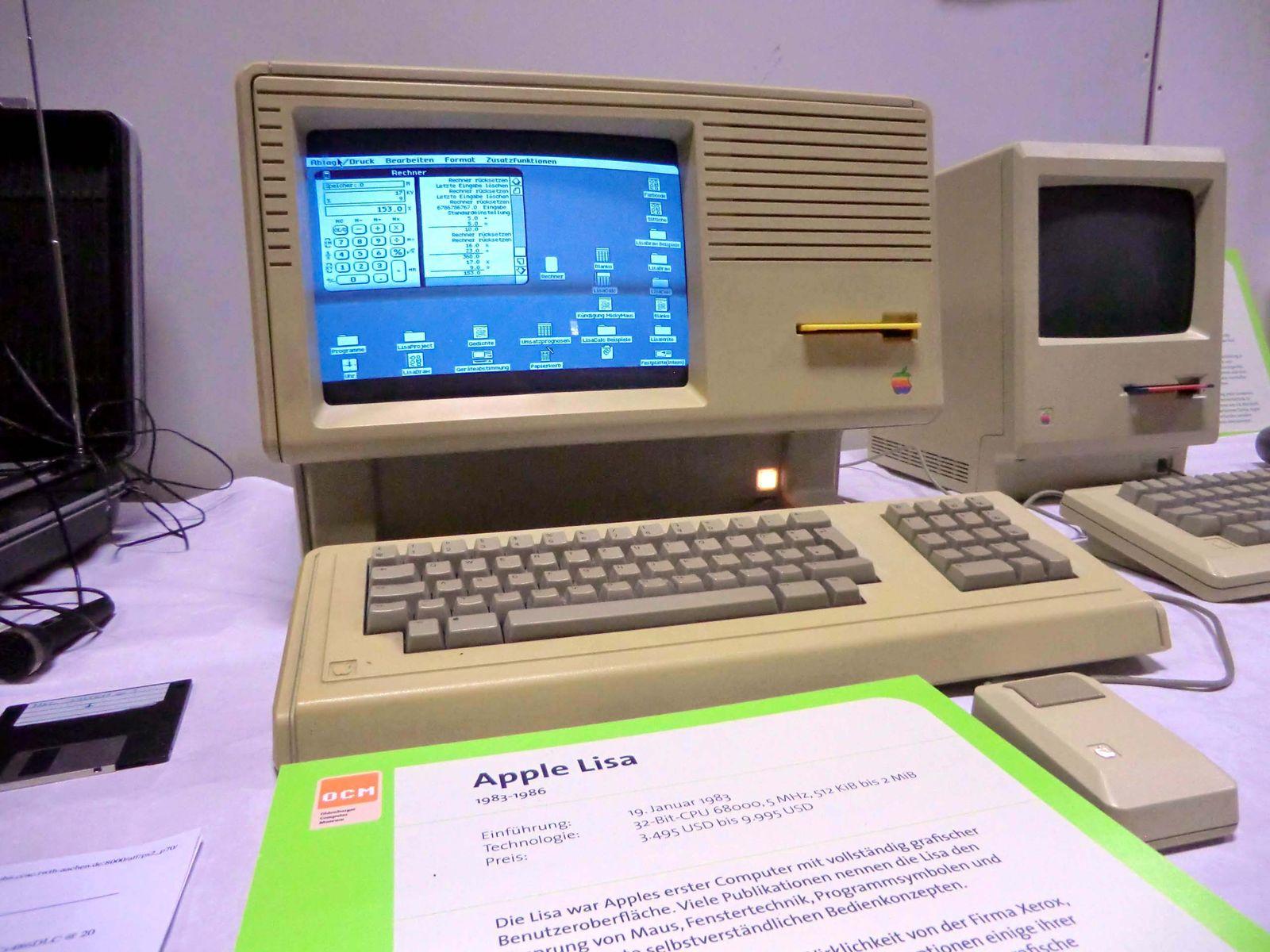 EINMALIGE VERWENDUNG Vintage Computer / apple lisa