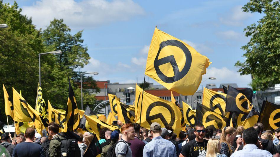 Anhänger der Identitären Bewegung in Berlin
