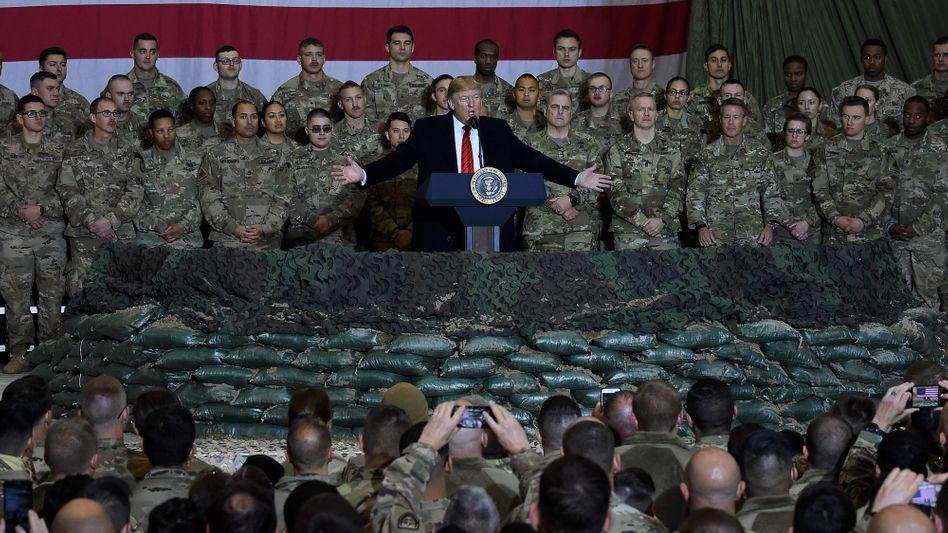 Donald Trump in Afghanistan (Archivbild)