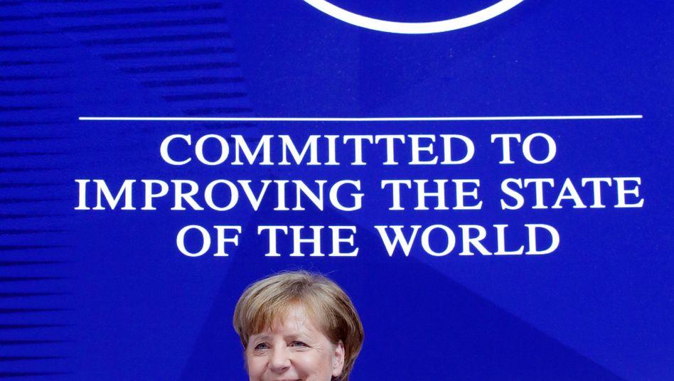 Kanzlerin Merkel in Davos