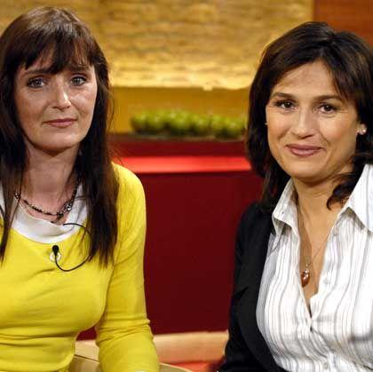 Christiane F. (l.) mit Moderatorin Maischberger: Berichte über Rückfall in die Drogensucht