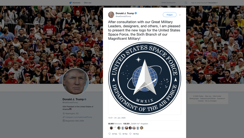 Trumps Weltraumarmee: Space-Force-Logo erntet Spott
