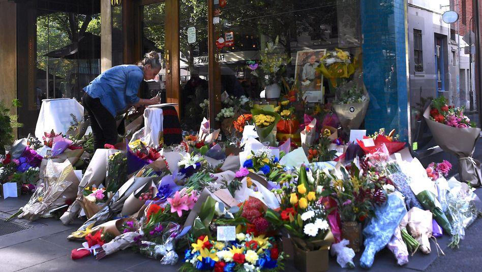 Blumen am Tatort in Melbourne