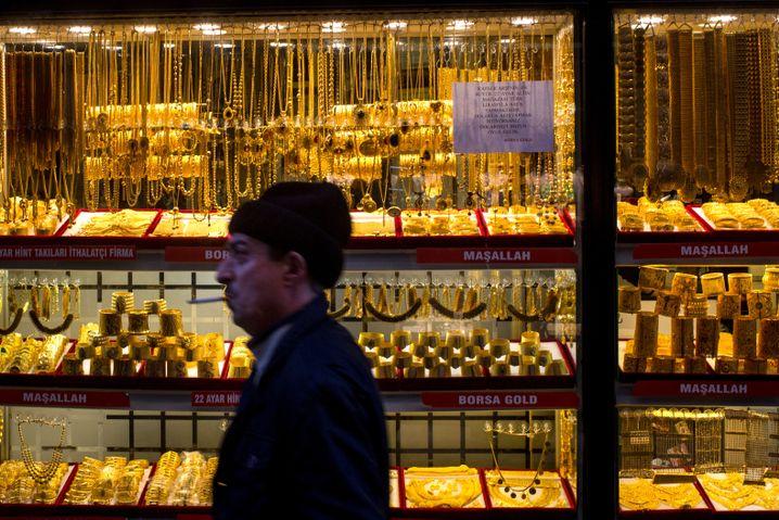 Goldhändler in Istanbul