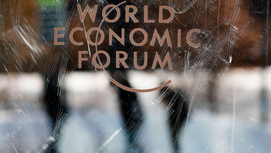 Logo des Weltwirtschaftsforums: Erst verschoben, jetzt ganz abgesagt