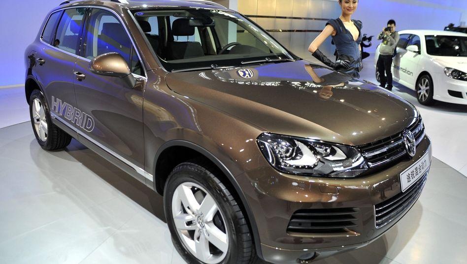 VW-Stand auf chinesischer Automesse: Deutsche Autoaktien mit Verlusten
