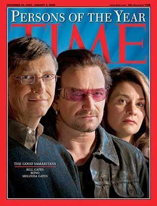 """Time""-Cover: Bill Gates, Bono, Melinda Gates (von links)"