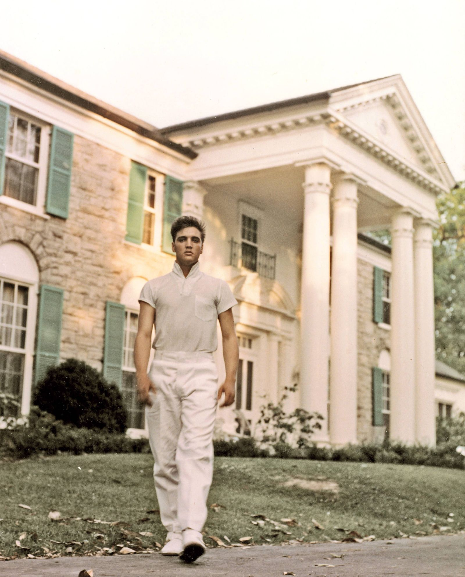 Elvis Presley at Graceland Memphis Tennessee circa 1957 File Reference 33635_733THA Hollywood CA
