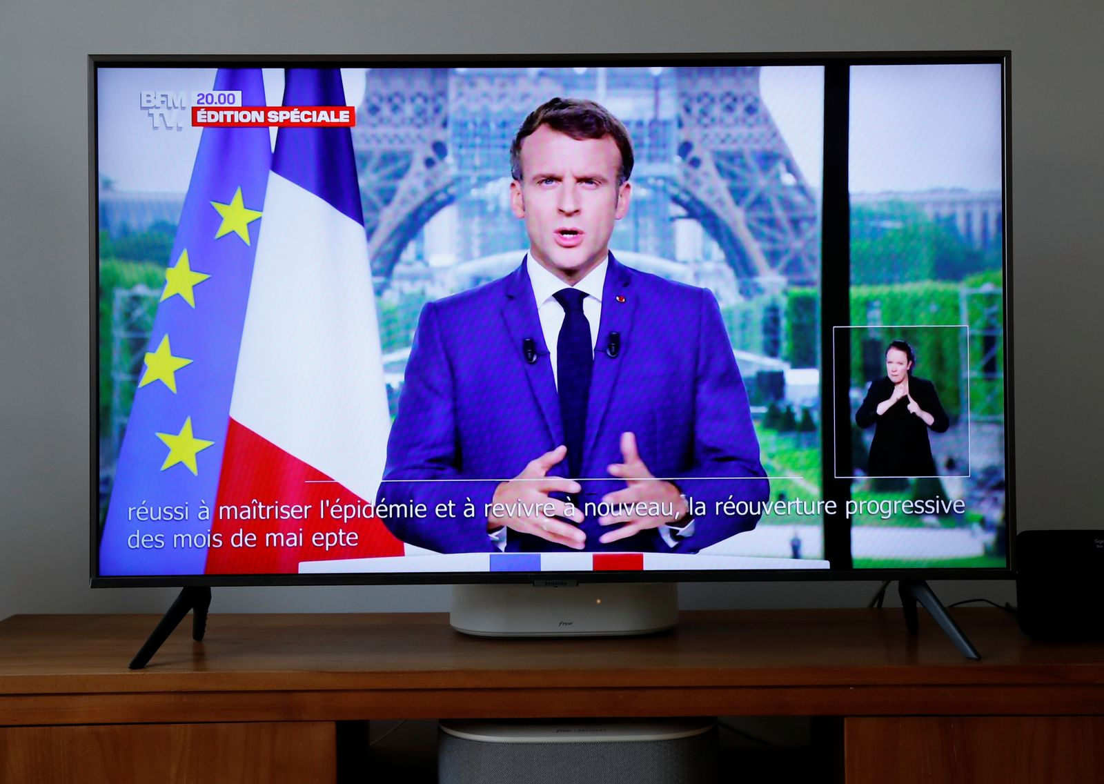 French President Macron gives televised address to the nation