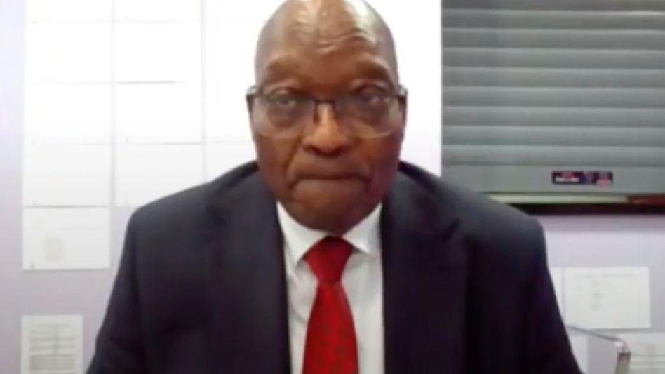 Der inhaftierte südafrikanische Ex-Staatschef Zuma wurde aus einer Haftanstalt zugeschaltet