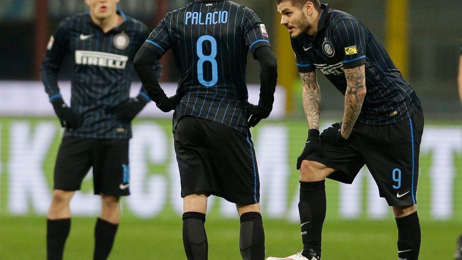 Inters Torschütze Palacio (Mitte): Die nächste Enttäuschung