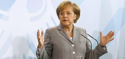 Angela Merkel (Anfang Februar im Bundeskanzleramt): Zweiten Fall Lehman unbedingt vermeiden