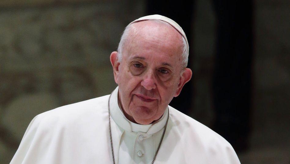 Papst Franziskus am 14. Oktober im Vatikan
