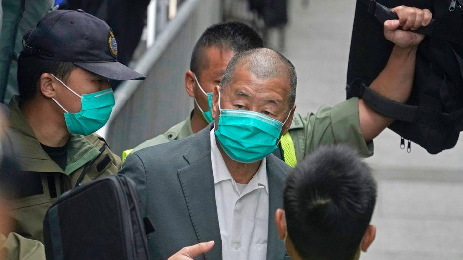 Medienunternehmer Jimmy Lai: Nach Einführung des Hongkonger Sicherheitsgesetzes kam er vor Gericht