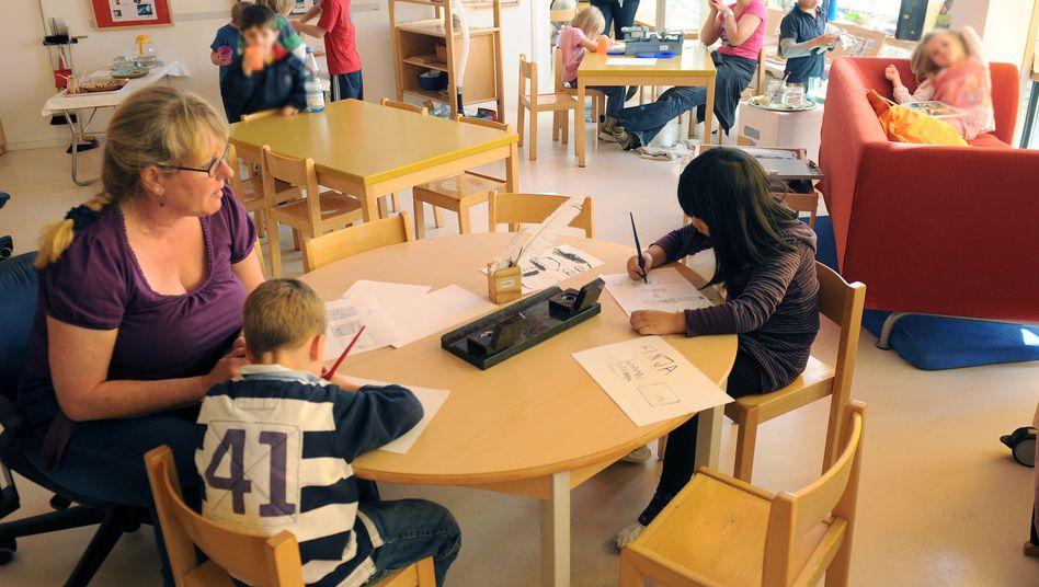 Kindertagesstätte in Stuttgart (Archivbild): Niedrig entlohnte Berufe