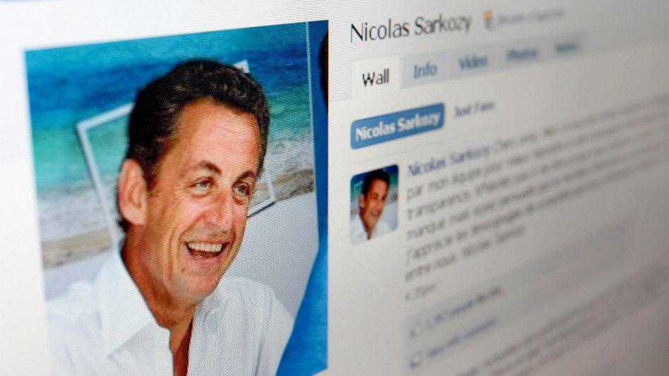 Facebook-Seite von Nicolas Sarkozy: Keine Network-Erwähnungen mehr im TV und Radio