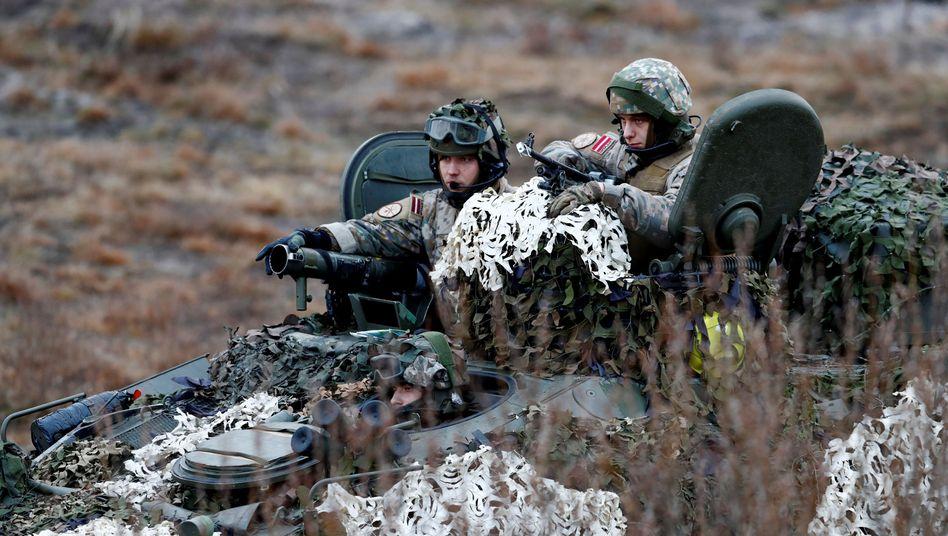 Lettische Soldaten im Nato-Manöver (Archivfoto)