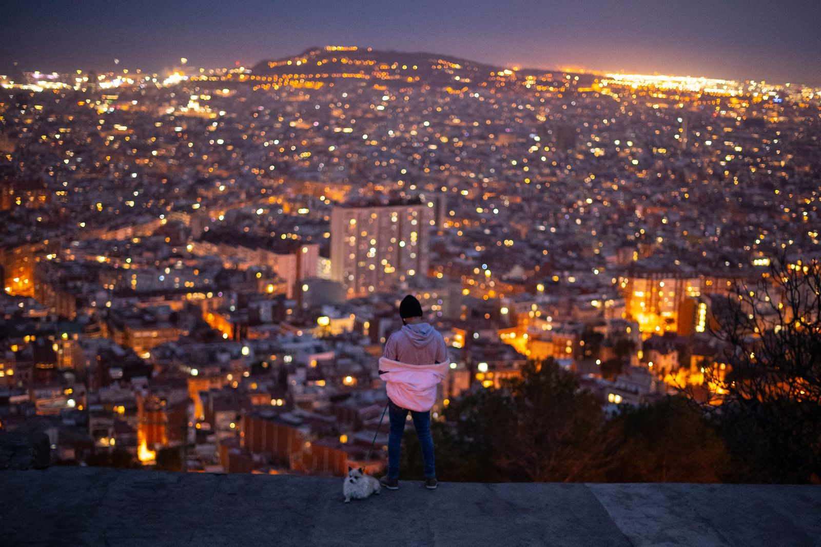 ***BESTPIX*** Dusk Over Barcelona Amidst The Coronavirus Pandemic