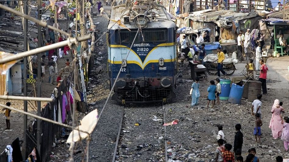 Dharavi-Viertel in Mumbai