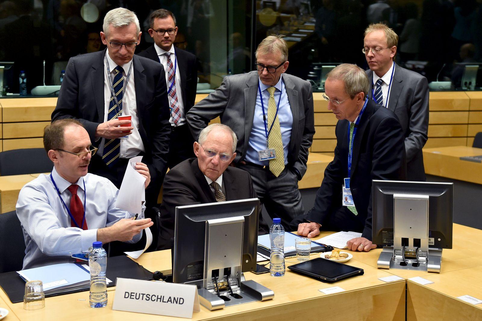 Schäuble und Euro-Minister