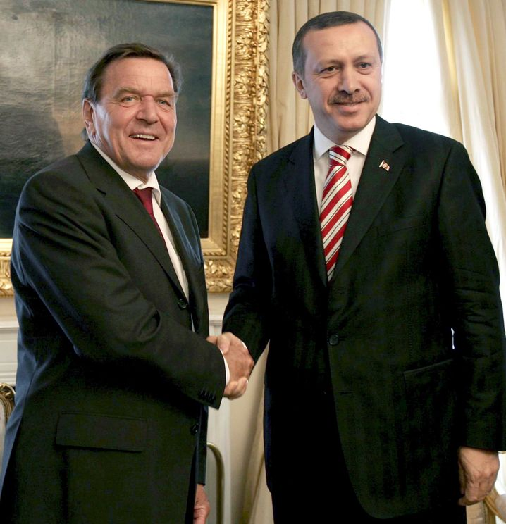 Recep Tayyip Erdogan und Schröder, 2006