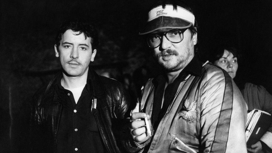 Harry Baer (links) mit Rainer Werner Fassbinder