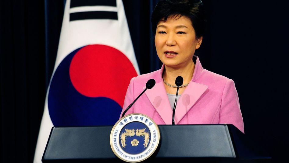 Präsidentin Park Geun Hye: Hilfsgüter sollen noch in der kommenden Woche in Nordkorea eintreffen