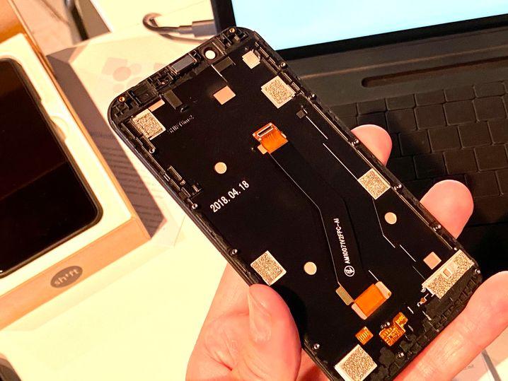 Das Displaymodul eines Shift-Smartphones
