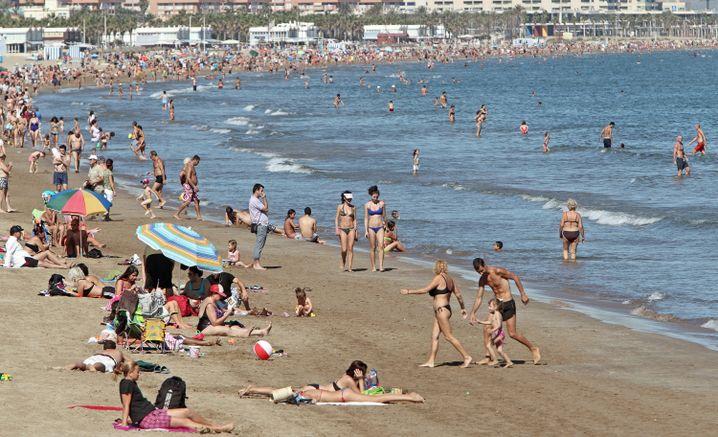 Las Arenas beach in Valencia, Spain