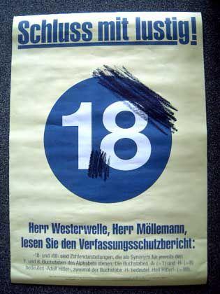 """Steht """"18"""" für AH, also für Adolf Hitler? Butzmanns Anti-FDP-Plakat"""