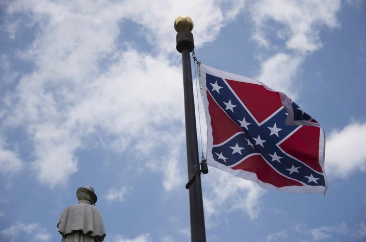 Symbol des Hasses: Frühere Konföderiertenfahne in South Carolina