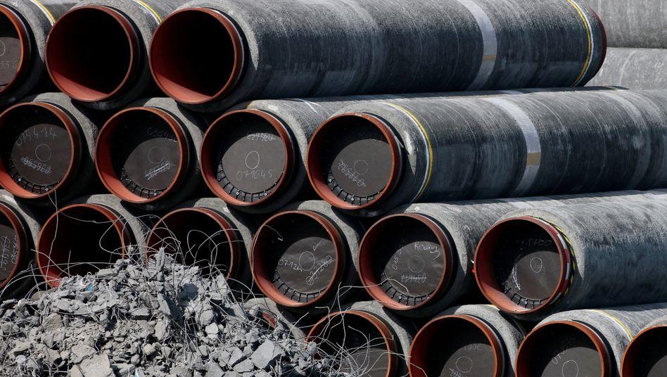 Röhren der Pipeline in Sassnitz (Mecklenburg-Vorpommern)