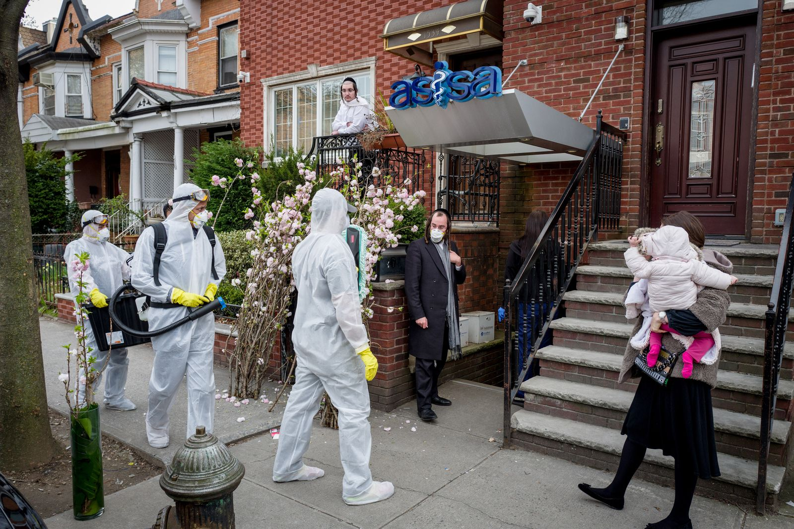An urgent care clinic in the Borough Park section of Brooklyn on Wednesday, March 18, 2020, as a cleaning crew arrived before opening as a preventive measure against the spread of the coronavirus. (Jonah Markowitz/The New York Times)