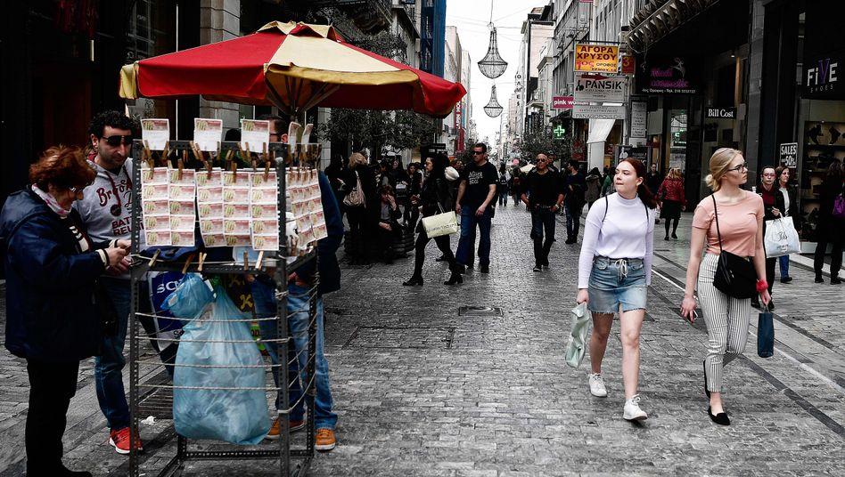 Einkaufsstraße in Athen