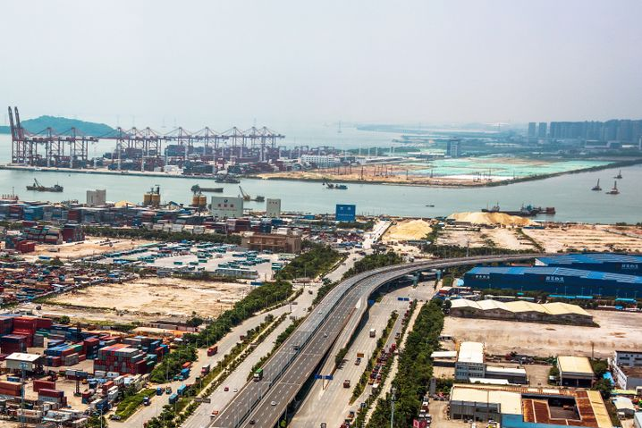 Hafen von Shenzhen, China