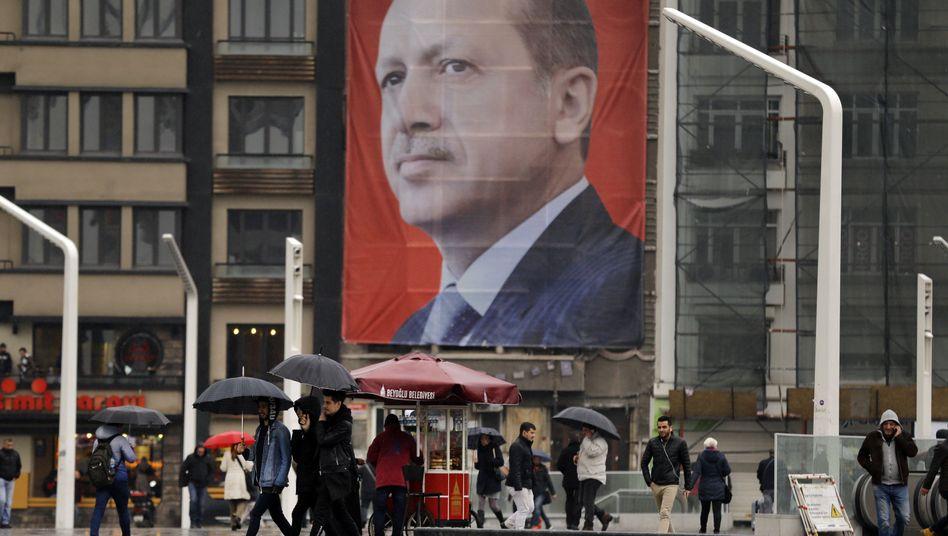 Erdogan-Plakat in Istanbul