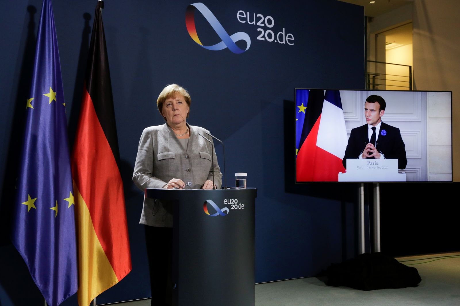 Germany's Merkel, France's Macron, Austria's Kurz discuss fight against Islamist extremism