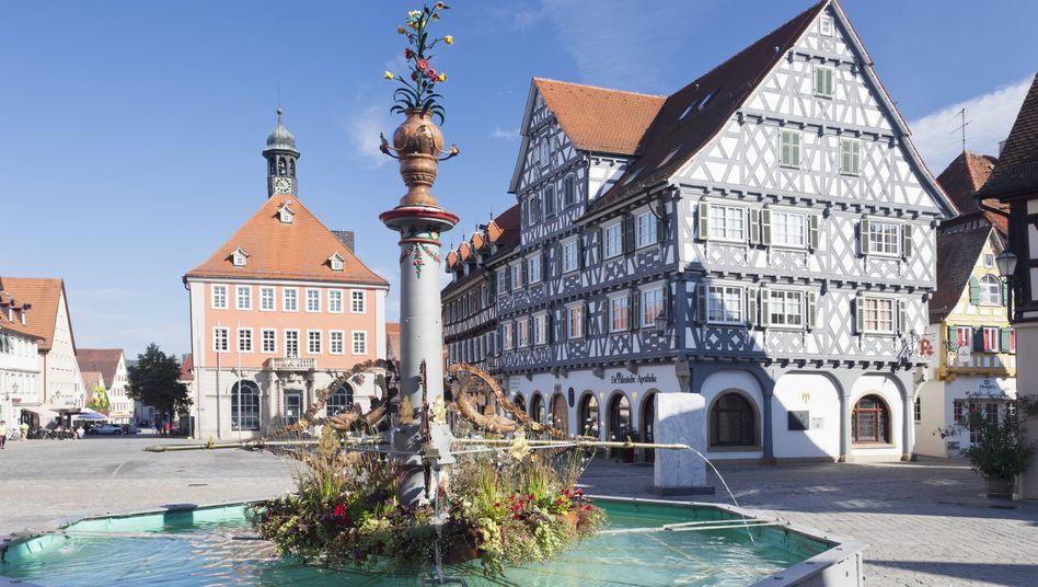 Marktplatz von Schorndorf, Baden Württemberg