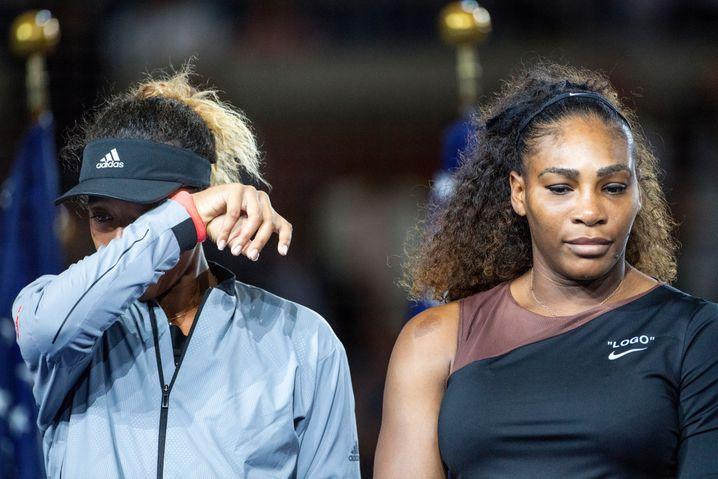 Keine Tränen der Freude: Naomi Osaka nach ihrem U.S.-Open-Sieg gegen Serena Williams 2018