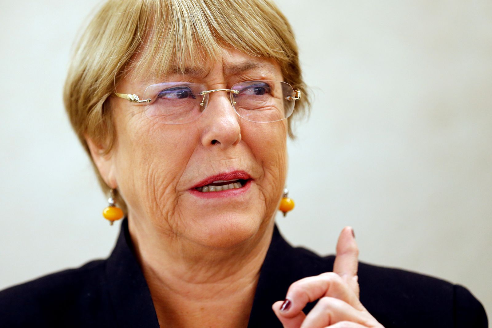 FILE PHOTO: UN High Commissioner for Human Rights Bachelet attends a session of the Human Rights Council in Geneva