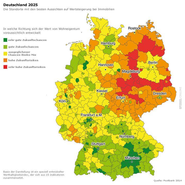Prognose der Immobilien-Wertentwicklung in Deutschland: Klicken Sie für die vollständige Darstellung auf das Motiv
