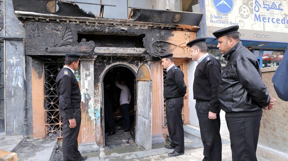 Tatort in Kairo: Anschlag mit Molotowcocktails