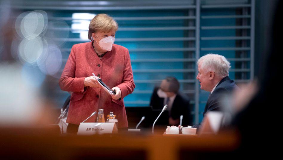 Angela Merkel und Horst Seehofer im Kabinett