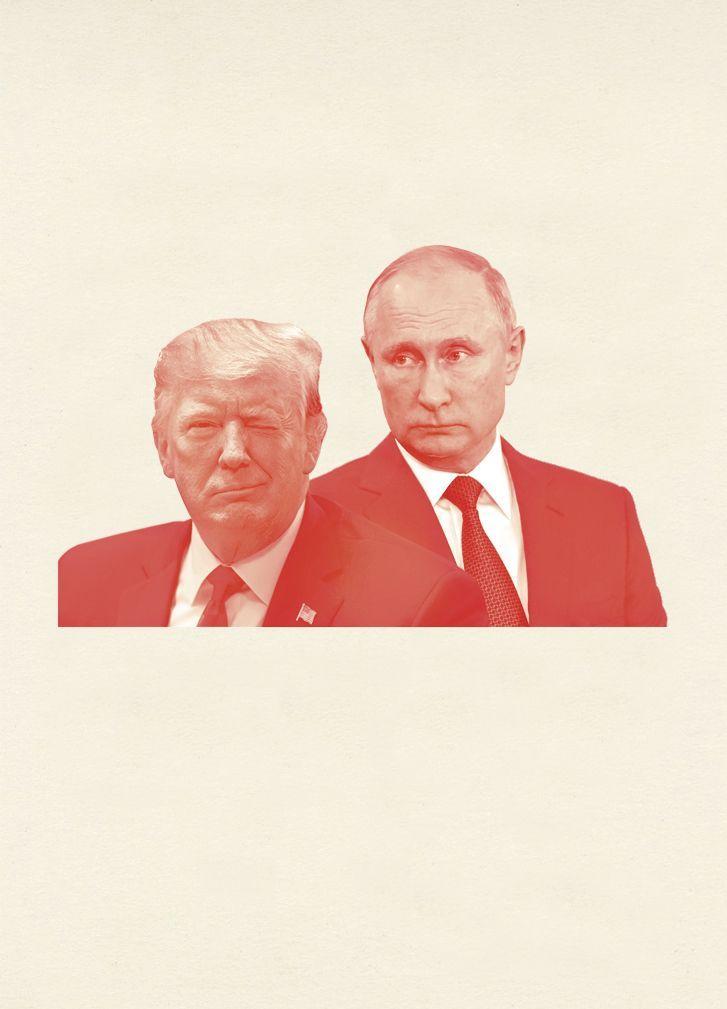 EINMALIGE VERWENDUNG SPIEGEL Plus 6/2019 S. 85 Trump Putin