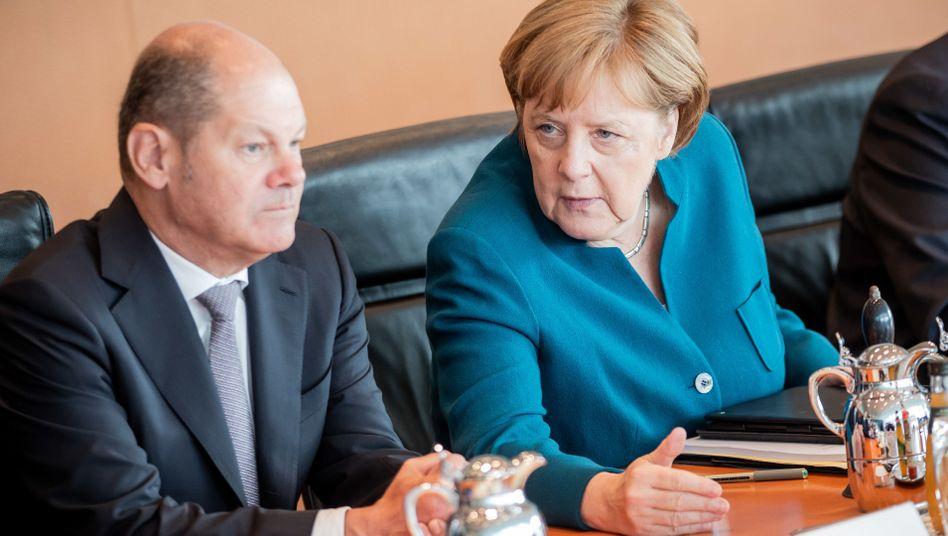 Koalitionspartner Scholz und Merkel: Andere Form der Nachhaltigkeit