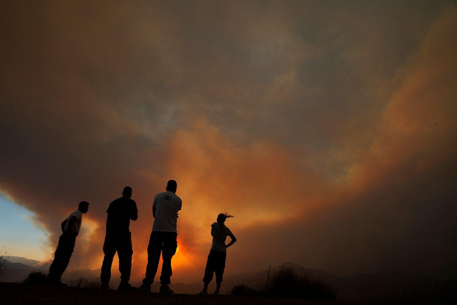 APTOPIX Cyprus Forest Fire